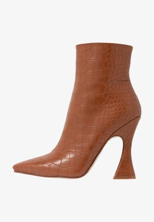 KATE - High heeled ankle boots - tan