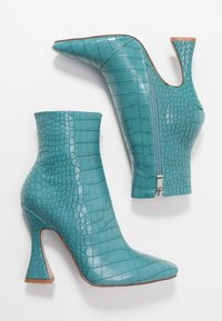 RAID - KATE - High heeled ankle boots - turquoise - 3