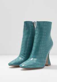 RAID - KATE - High heeled ankle boots - turquoise - 4