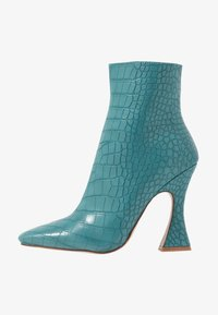 RAID - KATE - High heeled ankle boots - turquoise - 1