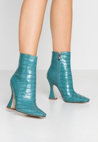 RAID - KATE - High heeled ankle boots - turquoise - 0