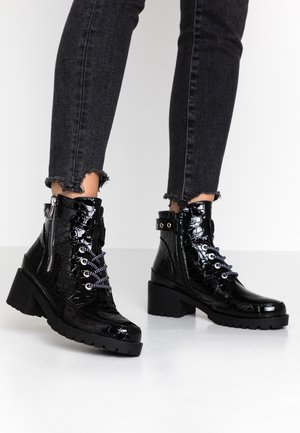 JANIS - Bottines à lacets - black
