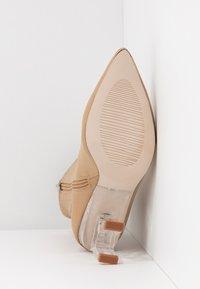 RAID - BRAZEN - High heeled ankle boots - nude - 6