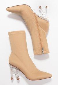 RAID - BRAZEN - High heeled ankle boots - nude - 3