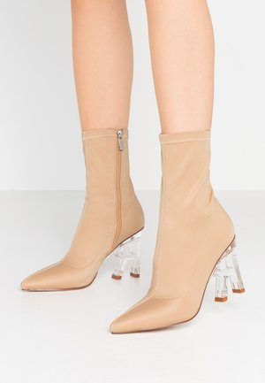 BRAZEN - High heeled ankle boots - nude