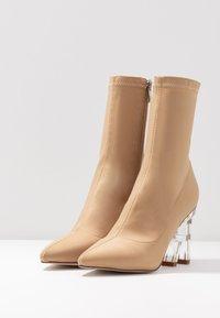 RAID - BRAZEN - High heeled ankle boots - nude - 4