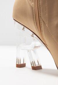 RAID - BRAZEN - High heeled ankle boots - nude - 2