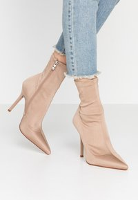 RAID - PRESCA - High heeled ankle boots - nude - 0
