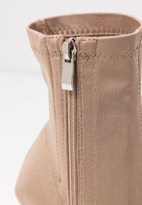 RAID - PRESCA - High heeled ankle boots - nude - 2
