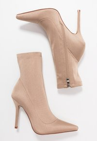 RAID - PRESCA - High heeled ankle boots - nude - 3