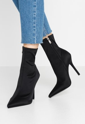 PRESCA - High heeled ankle boots - black