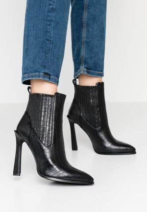 TINA - High heeled ankle boots - black