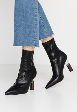 MARIE - High heeled ankle boots - black