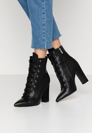 RAVEN - High heeled ankle boots - black