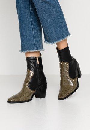 VIRTUE - Classic ankle boots - khaki/black