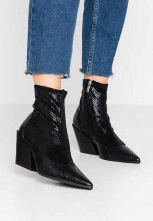 KELISE - High heeled ankle boots - black