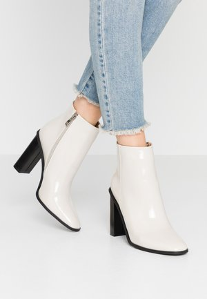 DYLAN - High heeled ankle boots - offwhite