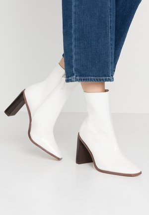 FRANKY - High heeled ankle boots - offwhite
