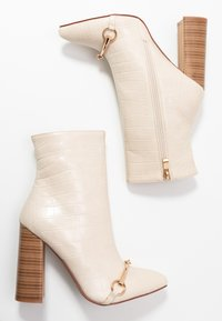 RAID - LAYLAH - Kotníková obuv na vysokém podpatku - nude - 3