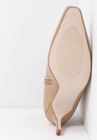 RAID - PRALINE - High heeled ankle boots - nude - 6