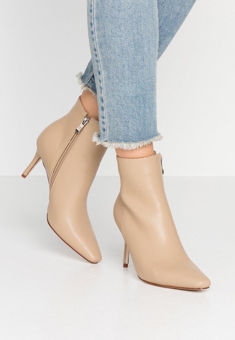 RAID - PRALINE - High heeled ankle boots - nude