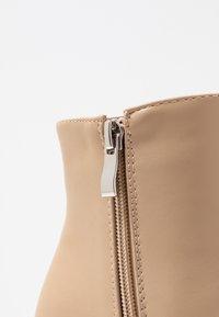 RAID - PRALINE - High heeled ankle boots - nude - 2