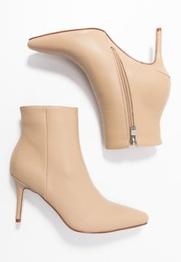 RAID - PRALINE - High heeled ankle boots - nude - 3