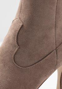 RAID - KAISON - High heeled ankle boots - taupe - 2