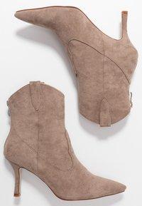 RAID - KAISON - High heeled ankle boots - taupe - 3