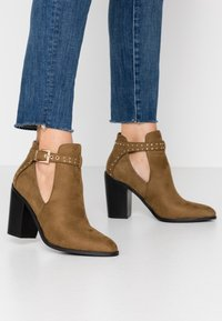 RAID - High heeled ankle boots - taupe - 0