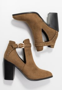 RAID - High heeled ankle boots - taupe - 3