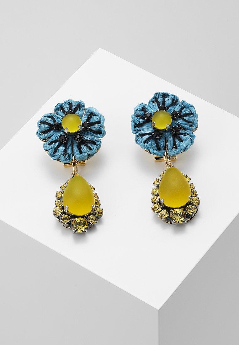 Radà - Earrings - light blue/yellow