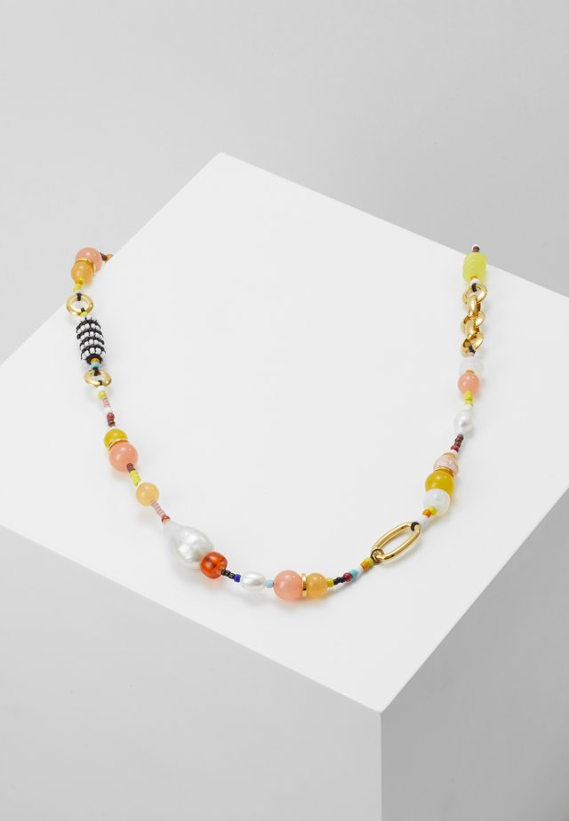 BEADED NECKLACE - Kaulakoru - peach/multi