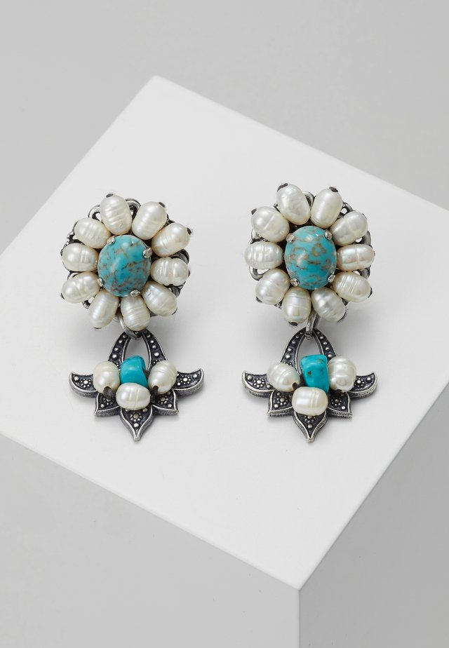 EARRINGS - Earrings - silver-coloured