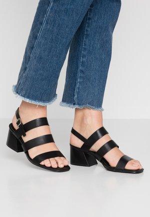 WIDE FIT SONDRA - Sandals - black