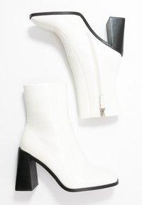 RAID Wide Fit - WIDE FIT KIAYA - Ankelboots med høye hæler - white - 3