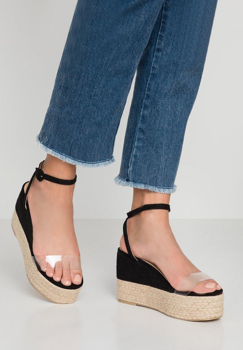 RAID Wide Fit - High Heel Sandalette - clear/black