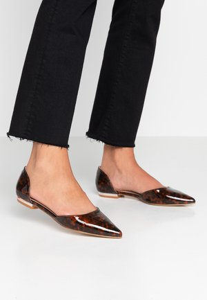 WIDE FIT CAROLINE - Bailarinas - tortoise shell