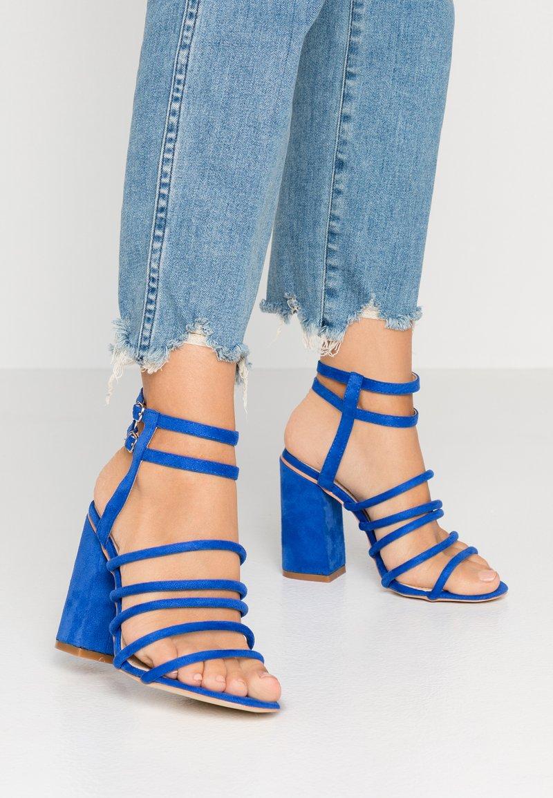 RAID Wide Fit - WIDE FIT ARIANA - High heeled sandals - cobalt blue