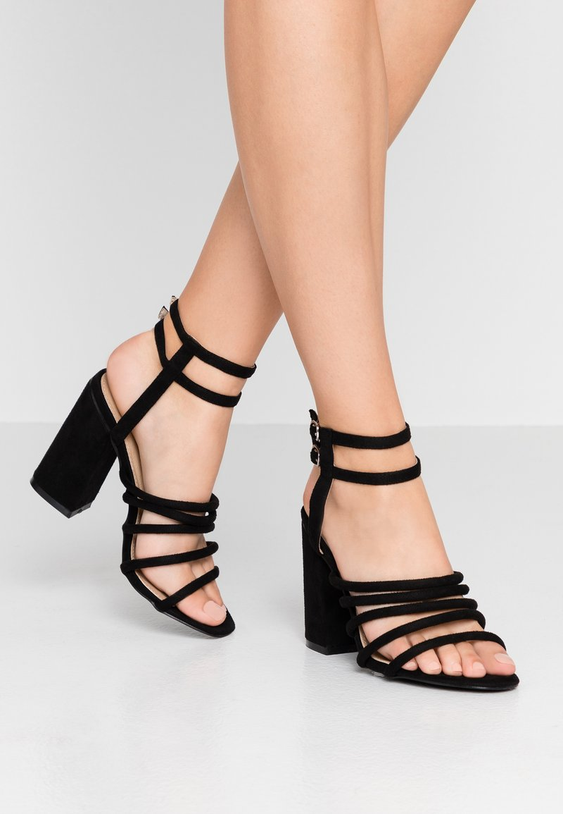 RAID Wide Fit - WIDE FIT ARIANA - High heeled sandals - black