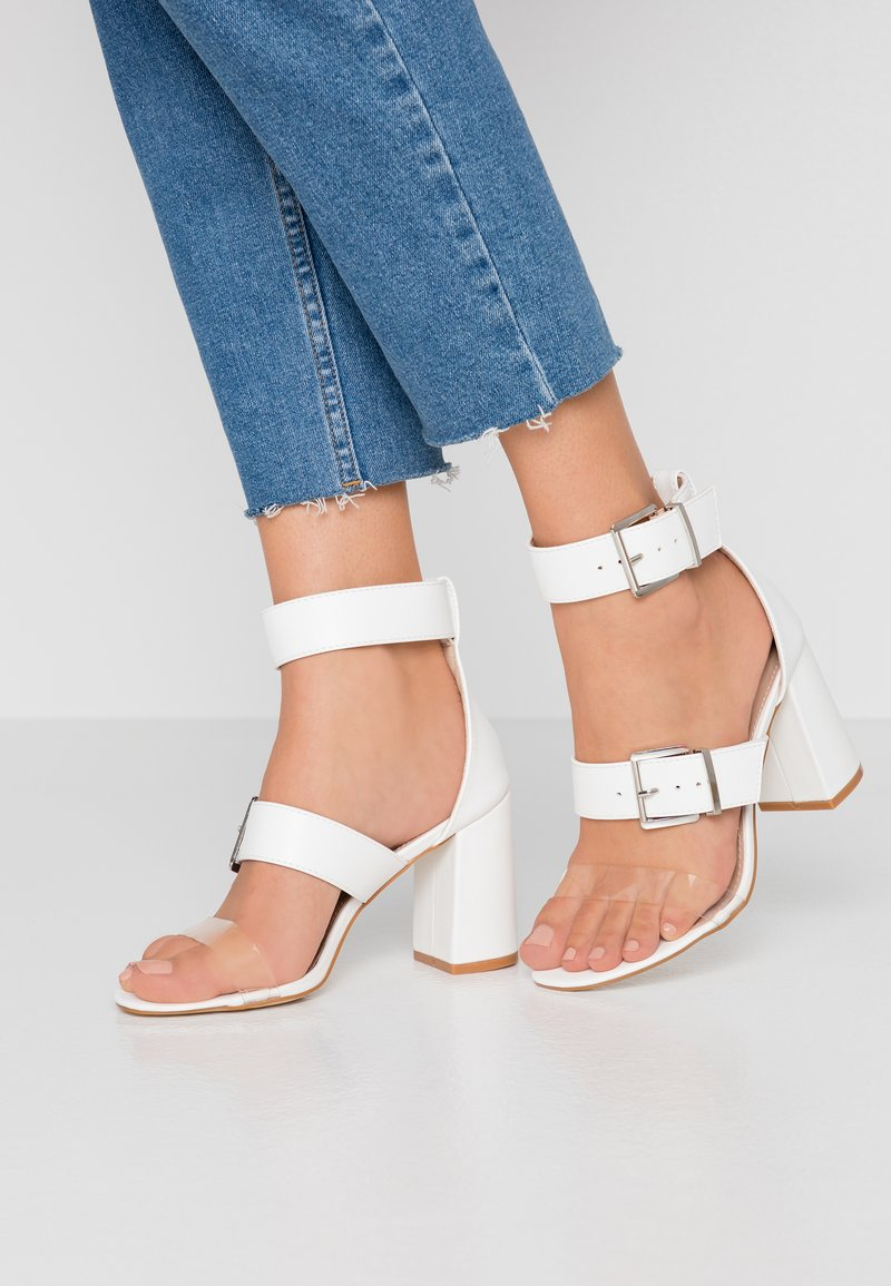 RAID Wide Fit - WIDE FIT ELENA - High heeled sandals - white