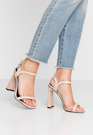 WIDE FIT EMILEE - High heeled sandals - nude
