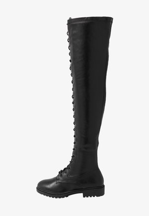 WIDE FIT AMANDA - Over-the-knee boots - black