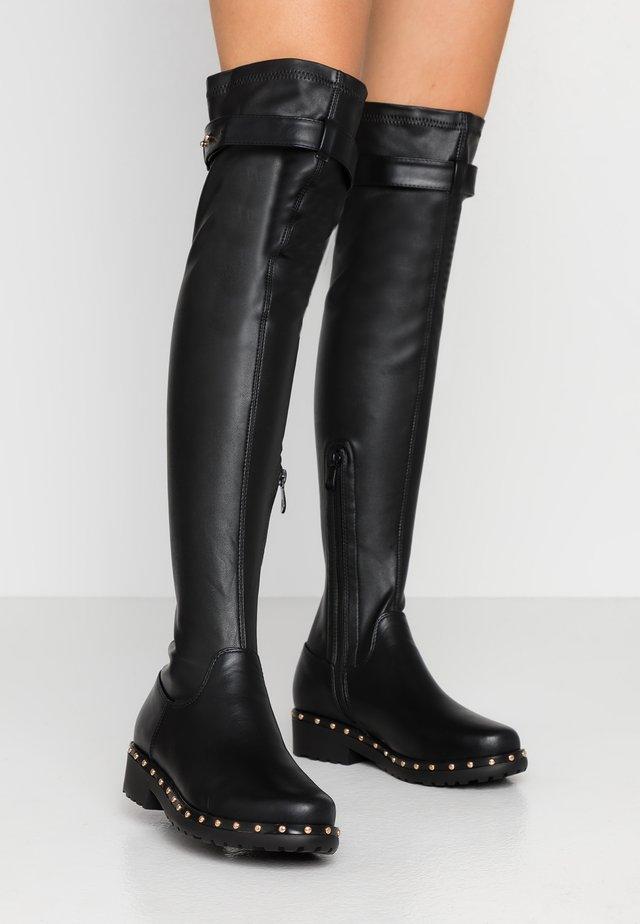 WF IVANNA - Kozačky nad kolena - black