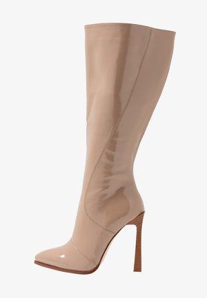 WIDE FIT ARIA - Boots med høye hæler - taupe