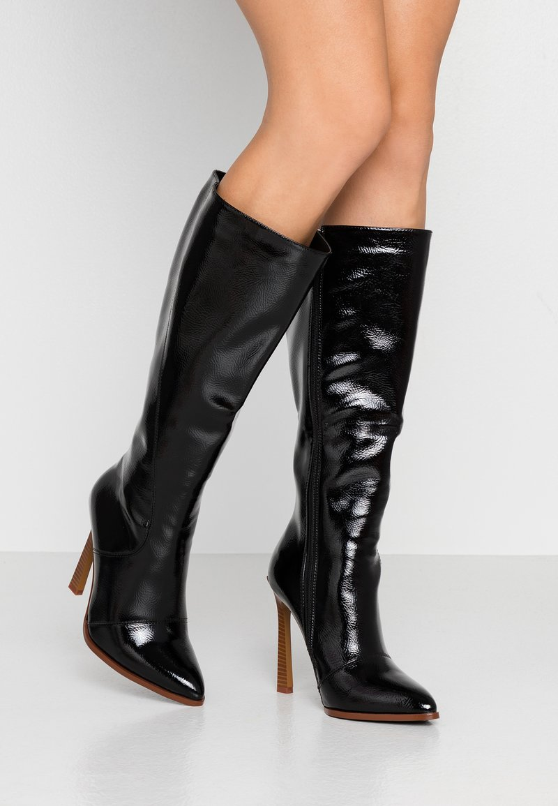 RAID Wide Fit - WIDE FIT ARIA - High heeled boots - black