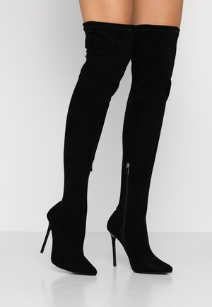 WIDE FIT MAUREEN - High heeled boots - black