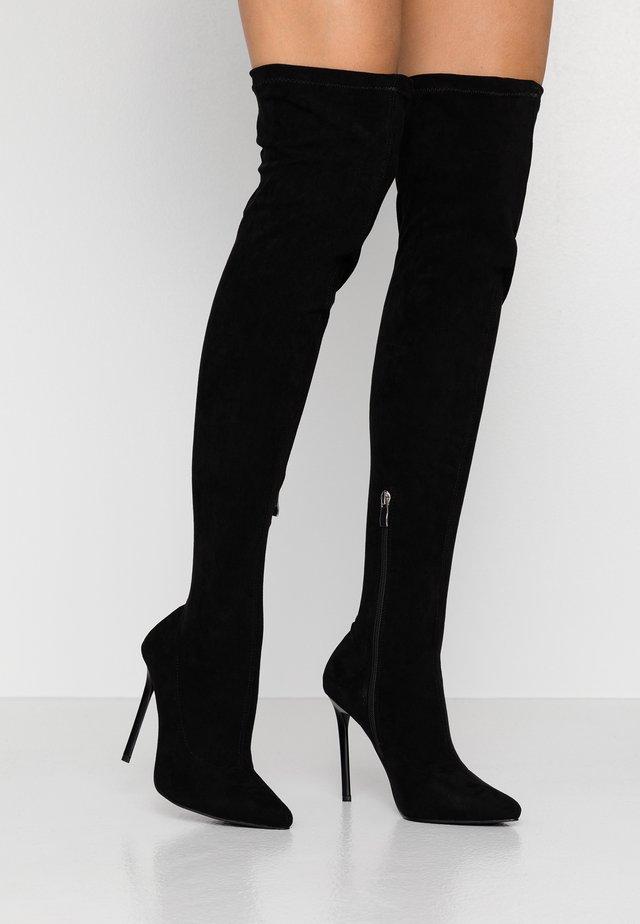 WIDE FIT MAUREEN - High heeled boots - black