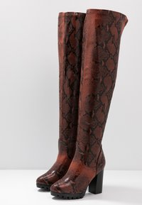 RAID Wide Fit - WIDE FIT VERONA - High heeled boots - burgundy