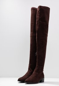 RAID Wide Fit - WIDE FIT ELDORA - Kozačky nad kolena - brown - 4